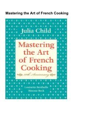 (DEFINITELY) Mastering the Art of French Cooking eBook PDF Download