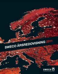 SWECO ÅRSREDOVISNING 2011