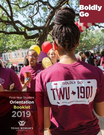 TWU First-Year Student Orientation Booklet 2019