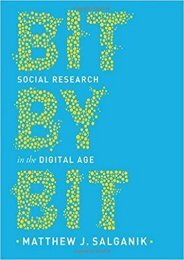 [+]The best book of the month Bit by Bit: Social Research in the Digital Age  [NEWS]