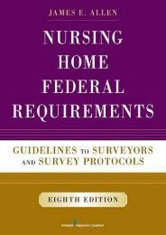[+]The best book of the month Nursing Home Federal Requirements: Guidelines to Surveyors and Survey Protocols [PDF]