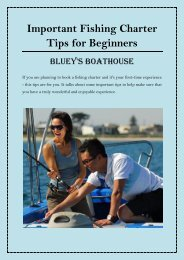 Important Fishing Charter Tips for Beginners