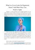 What Is a Cover Letter for Registered Nurse? And Other Docs You Need to Apply - Page 2