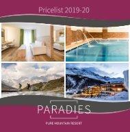 Pricelist 2019-2020
