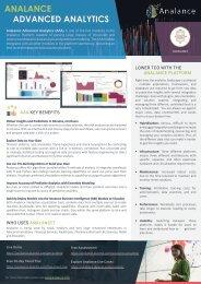 Analance Advanced Analytics Infosheet