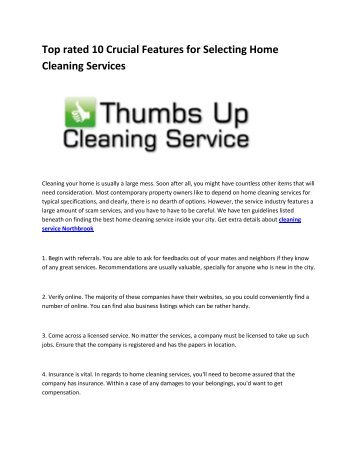 5 cleaning service Northbrook