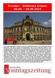 Dresden - Elbflorenz erleben vom 04.-05.06.2019
