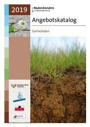 Bodenbündnis Angebotskatalog für Gemeinden 2019