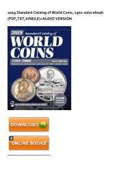 (RECOMMEND) 2019 Standard Catalog of World Coins, 1901-2000 eBook PDF Download