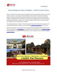 Tour packages provider in Udaipur – Sarthi Travels & Tours