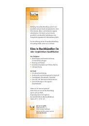 Stellenanzeige Buchhändler ejw-service gmbh 2019