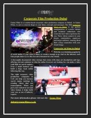 Corporate Film Production Dubai  Corporate Video Production Companies in Dubai
