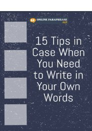 15 Tips in Case When You Need to Write in Your Own Words