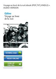 (DISCOUNT) Voyage au bout de la nuit ebook eBook PDF