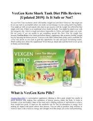 VexGen Keto Pills - Timesforhealth