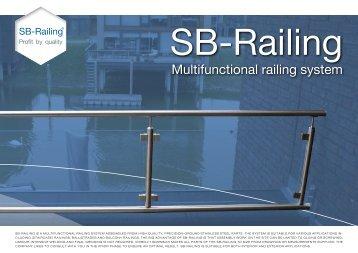 Multifunctional railing system - Sb-railing
