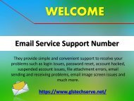Email Service Support Help 1877-503-0107