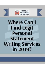Where Can I Find Legit Personal Statement Writing Services in 2019?