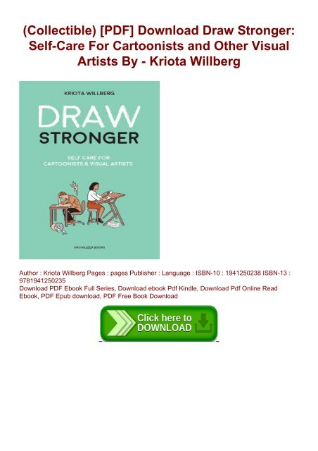 Collectible) [PDF] Download Draw Stronger: Self-Care For