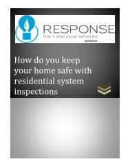 How do you keep your home safe with residential system inspections