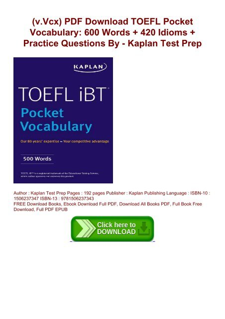 Toefl Practice Ebook