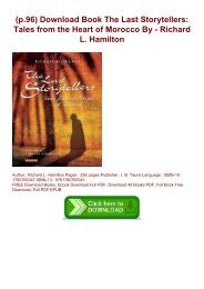 (p.96) Download Book The Last Storytellers: Tales from the Heart of Morocco By - Richard L. Hamilton