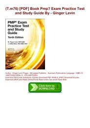 (T.m76) [PDF] Book Pmp? Exam Practice Test and Study Guide By - Ginger Levin
