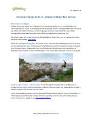 Awesome things to do in Jodhpur