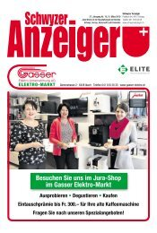 Schwyzer Anzeiger – Woche 11 – 15. März 2019