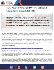 TOC Analyzer Market Drivers, Sales and Competitive Insights till 2023