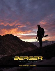 Berger Bullets Product Catalog 2019