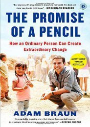 [+][PDF] TOP TREND The Promise of a Pencil: How an Ordinary Person Can Create Extraordinary Change  [FREE]