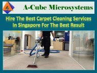 Hire The Best Carpet Cleaning Services In Singapore For The Best Result