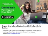 QuickBooks Error 15243: Find out - Just How to Fix This Error?