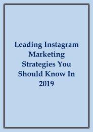 2019 Instagram Marketing Strategies