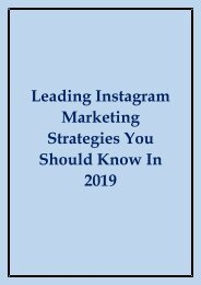 2019 Instagram Marketing Strategies
