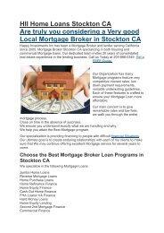 Hii Home Loans Stockton CA | 209-888-0349