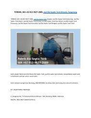 TERBAIK, WA +62 812-9627-2689, Jual Bio Septic Tank Kresek, Tangerang