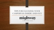 Tips for cleaning campervan