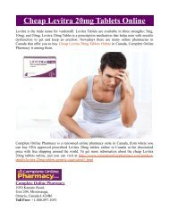 Cheap Levitra 20mg Tablets Online