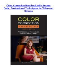 Download [Pdf] Color Correction Handbook with Access Code: Professional Techniques for Video and Cinema by Alexis Van Hurkman [PDF books]