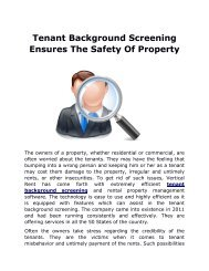 Tenant Background Screening Ensures The Safety Of Property