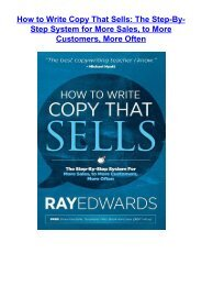 [PDF] Download How to Write Copy That Sells: The Step-By-Step System for More Sales, to More Customers, More Often by Ray Edwards FOR ANY DEVICE
