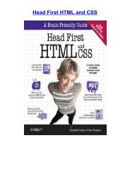 E-book download Head First HTML and CSS by Elisabeth Robson [PDF EPUB KINDLE]
