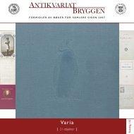 Antikvariat Bryggen - Katalog 110 - Varia for samlere