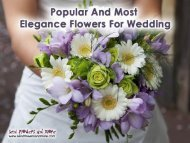 Popular and Most Elegance Flowers for Wedding