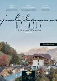 Jubiläumsmagazin 10 Jahre Natur- und Wellnesshotel Höflehner