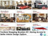 Furniture Shopping Brooklyn NY - Having Access to Better Interior Design Options
