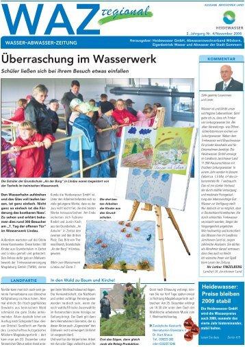 Überraschung im Wasserwerk - Heidewasser GmbH