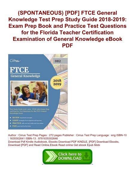 SPONTANEOUS) [PDF] FTCE General Knowledge Test Prep Study